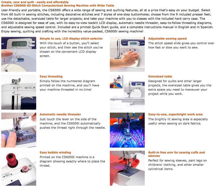 cs6000i sewing machine manual