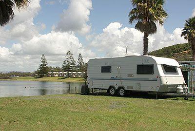 Waterfront caravan site