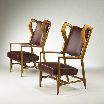 Gio Ponti, Triennale Armchairs for ISA Bergamo, 1951.