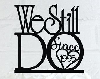 We Still Do Hearts 5th Vow Renewal or Anniversary by WyaleDesigns