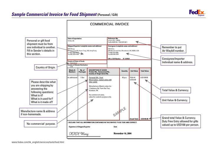 commercial invoice fedex fedex commercial invoice form invoice - example of commercial invoice