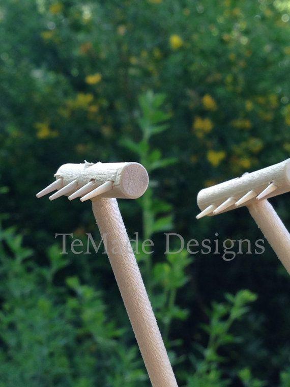 Handmade Mini Wooden Zen Garden Rake 3x1 by TeMadeDesigns on Etsy