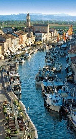 Cesenatico, a port town in the province of Forlì-Cesena in the region of Emilia-Romagna, Italy 43 jaar geleden