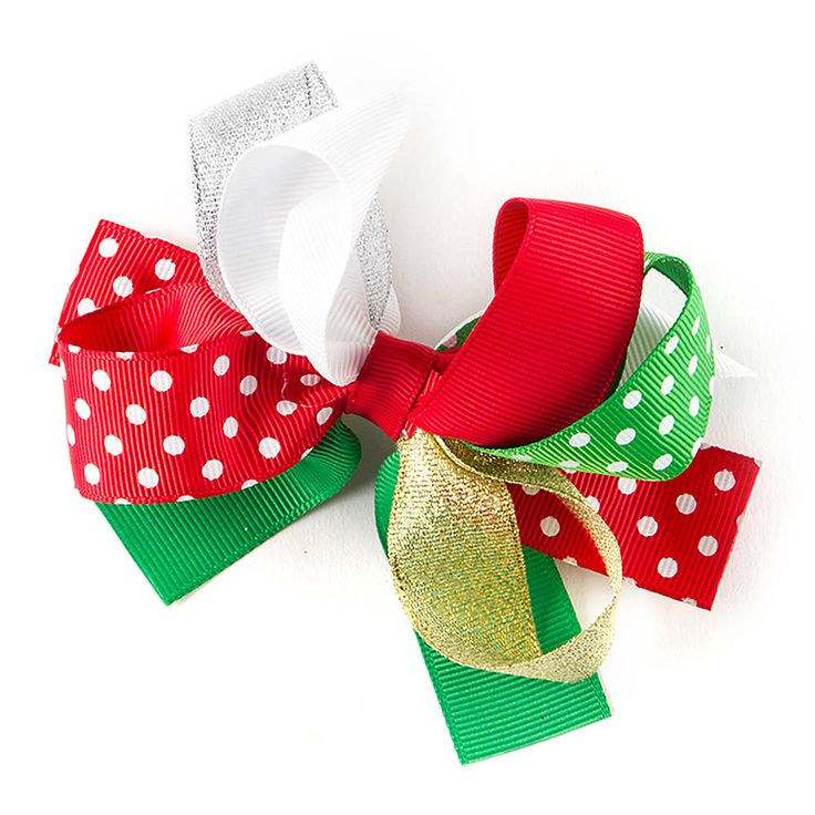 Holiday Ribbon Bow Hair Clip | Claire's