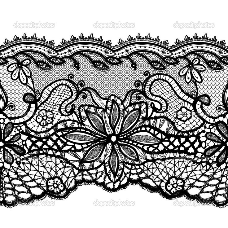 simple lace pattern vector - Google Search