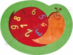 #Alfombra para niños caracol #números # acrílico #algodón - Tienda Educamueble