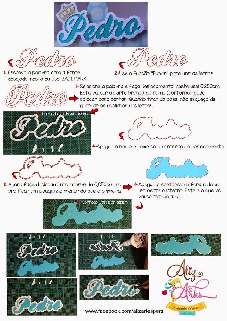 Dicas, Truques e Silhouette : Tutorial letra sobreposta por Laís Ribeiro