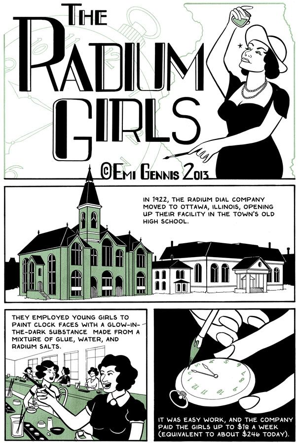 The Summer 2013 issue ofThe Cartoon Picayuneis now available! It features a historical piece I did about the radium girls of Ottawa, IL. Spoiler alert: as with most of my work, this story features really horribly depressing deaths. The issue also features work from the ever-talented Andy Warner, a cover by Pat Barrett, and more!!