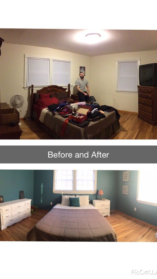 bedroom remodel before and after diy under 200