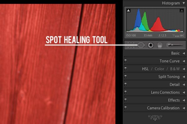 How to do Spot Removal in Lightroom. Tutorial by Jessica Paige via iheartfaces.com #lightroom