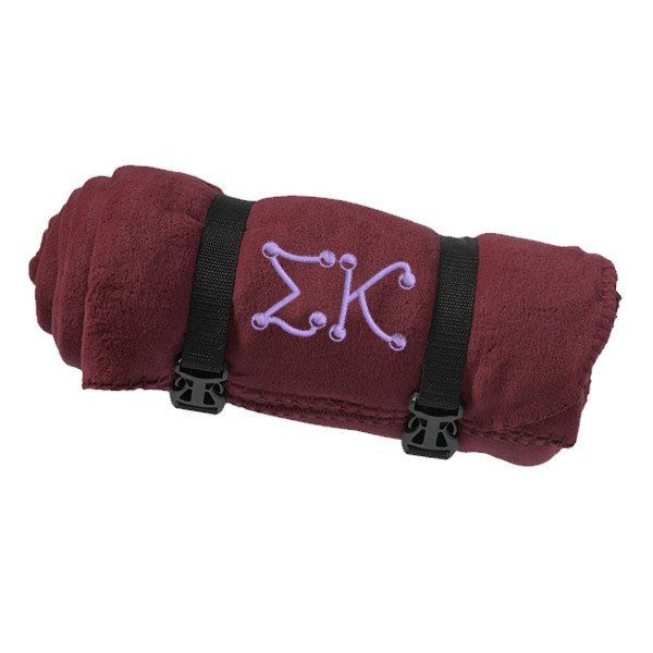 Sigma Kappa Fleece Blanket - Port and Company BP10 - EMB