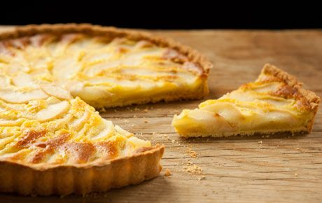 PEAR AND ALMOND TART - pears are moms FAV fruit and Frangipane, an almond-flavored pastry cream, is matched with pears in this classic French tart. The perfect end to the perfect dinner on a perfect day, for a perfect mom!  LOVE you mom! <3