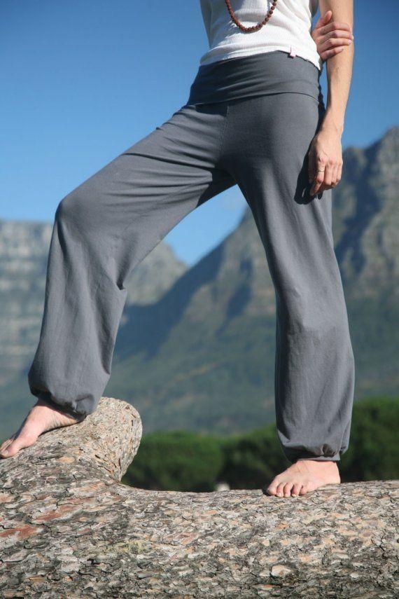 Charcoal baggy yoga pants