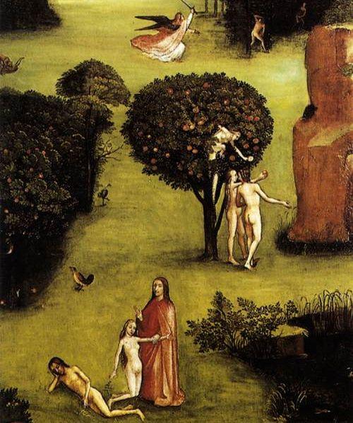 Triptych of Last Judgement. Paradise (left wing - detail) Akademie der Bildenden Kunste, Vienna