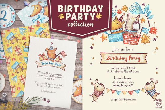 Birthday Party Collection by Yeti Crab on @creativemarket