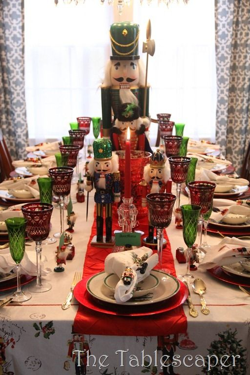 Nutcracker Table -The Tablescaper. My mom could and should totally do this
