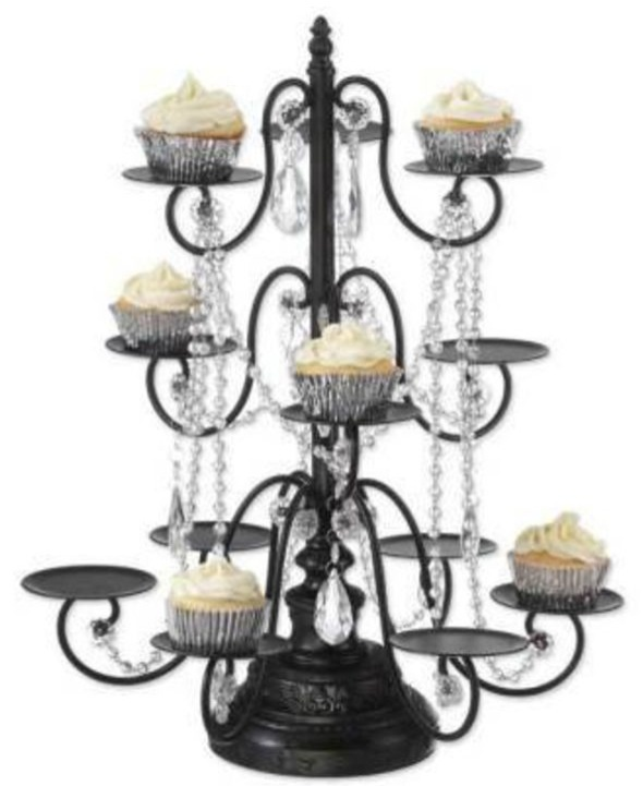 Cupcake Chandelier Stand From The Victorian Trading Company A Proper Pedestal For Pee Confections Is D With Garlands Of Glistening Crystal