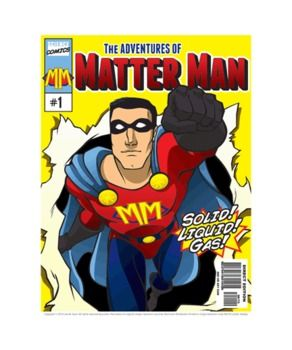 Cool science activity — states of matter! Create a science comic with Matter Man. Includes an articulating action figure! $