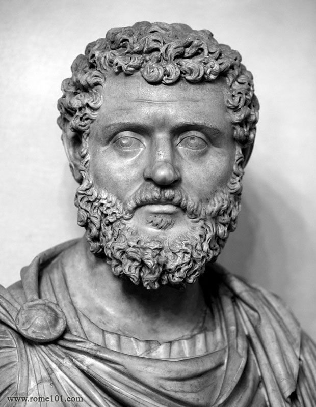 Didius Julianus - the 20th Emperor of Rome. After murdering Pertinax, the praetorian guard decided to auction off the office of Emperor to the highest bidder. Didius Juilanus was the fool who bid the most. He died for it.