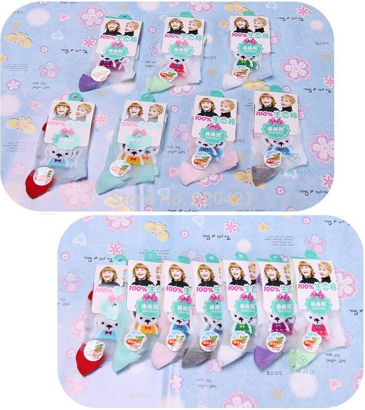 16PCS=8 pairs Summer new cotton baby & kids socks wholesale crystal silk  cotton cartoon children socks
