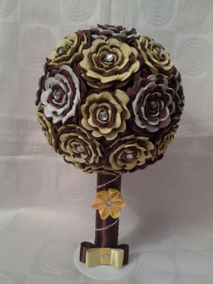 Drzewko kwiatowe z bibuły:)
