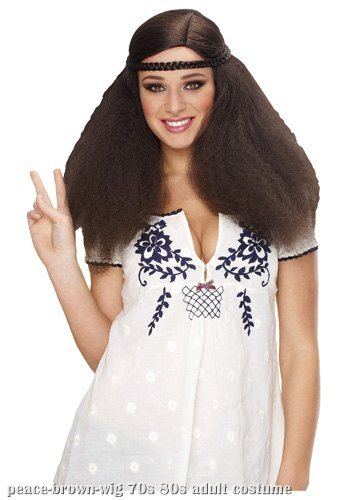 Womens Peace Brown Wig Brown hippie wig Brown hippie wig 174d5d9cd7