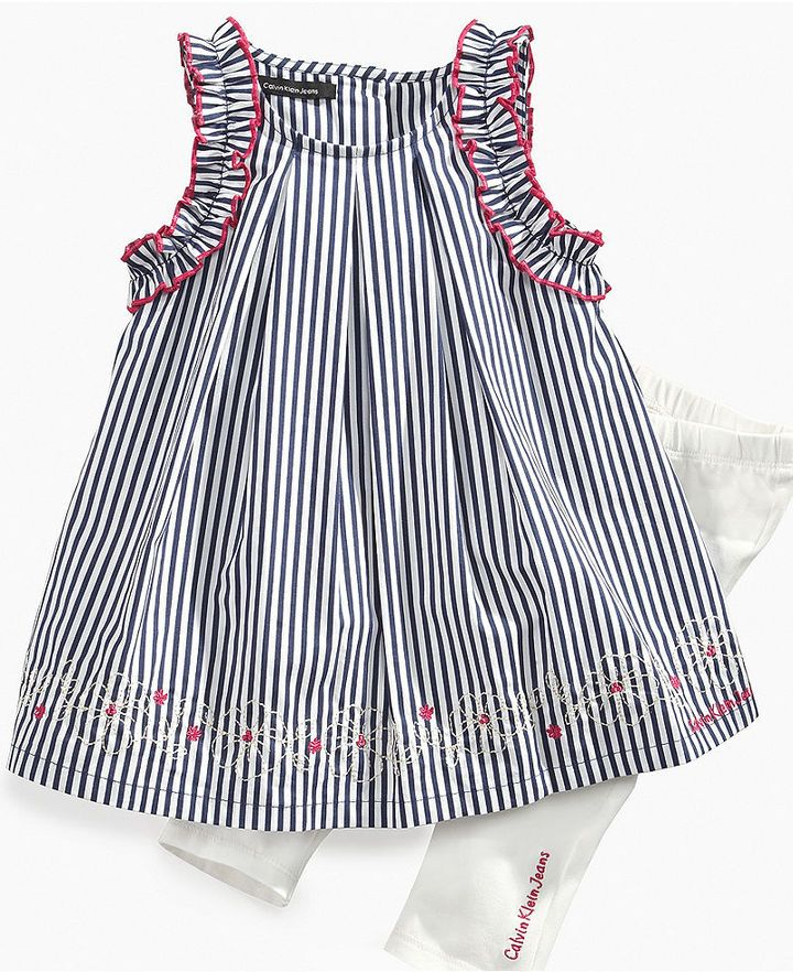 Calvin Klein Dresses for Girls | Calvin Klein Baby Set, Baby Girls Sleeveless Dress and Leggings Sold ...