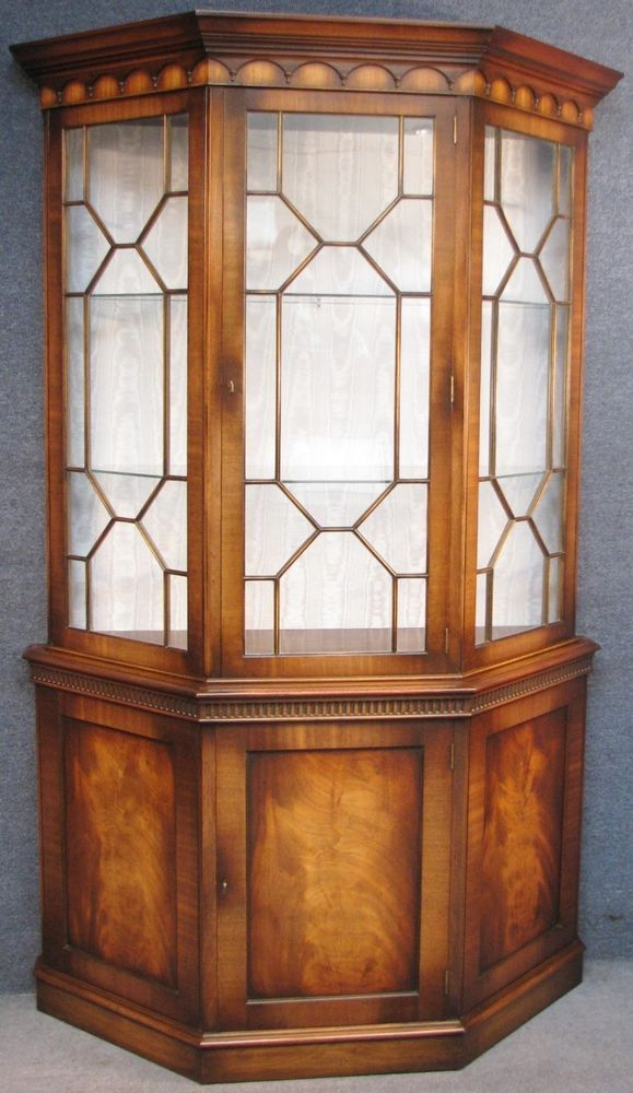 G T Rackstraw Georgian Style Mahogany Canted Display Cabinet On