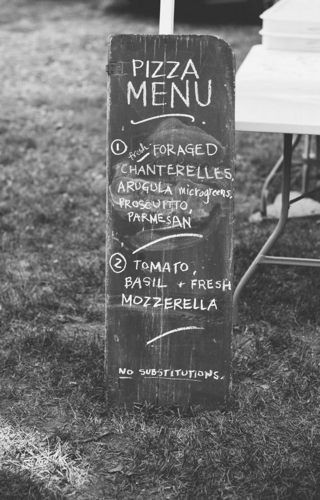 Two Pony Pizza Farm | Sarah Kieffer  great idea for directions, use a chalk board like that for more of a vintage vibe.