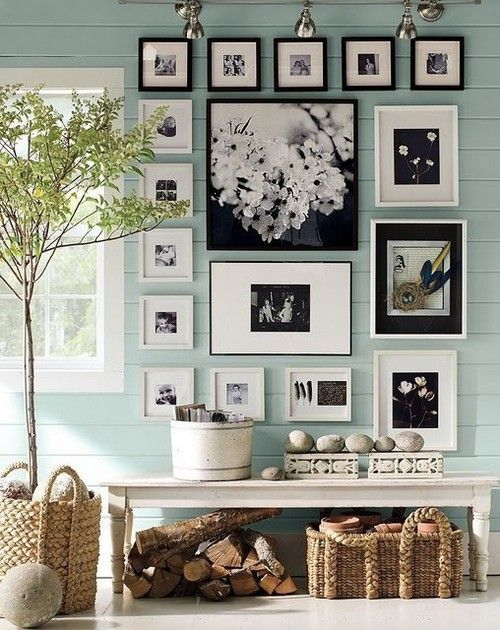 Black & White frames with a touch of sky