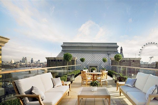 Corinthia Hotel London offers unforgettable views of the city (perfect for the warmer months!)