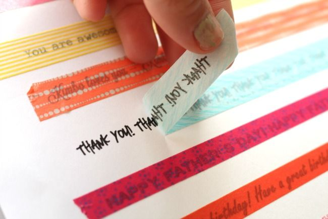get words on your washi tape!!! - A girl and a glue gun