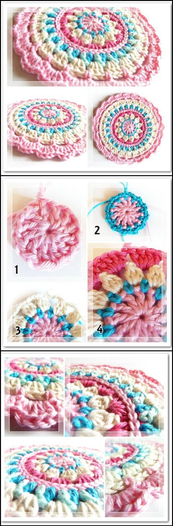 Crochet Little Spring Mandala - 60+ Free Crochet Mandala Patterns - Page 2 of 12 - DIY & Crafts