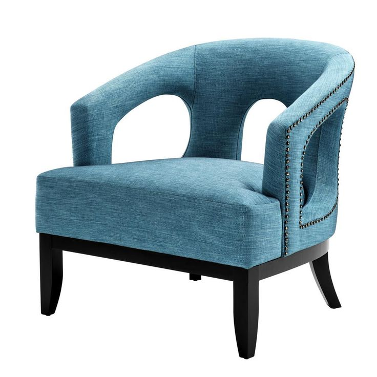 Blue upholstered accent chair eichholtz adam turquoise