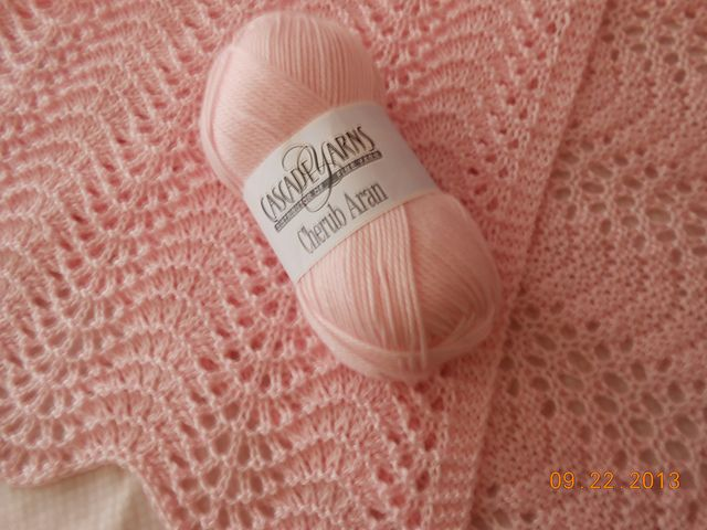 Free Pattern: Elegant & Easy Old Shale Baby Blanket by MaryAnn Designs