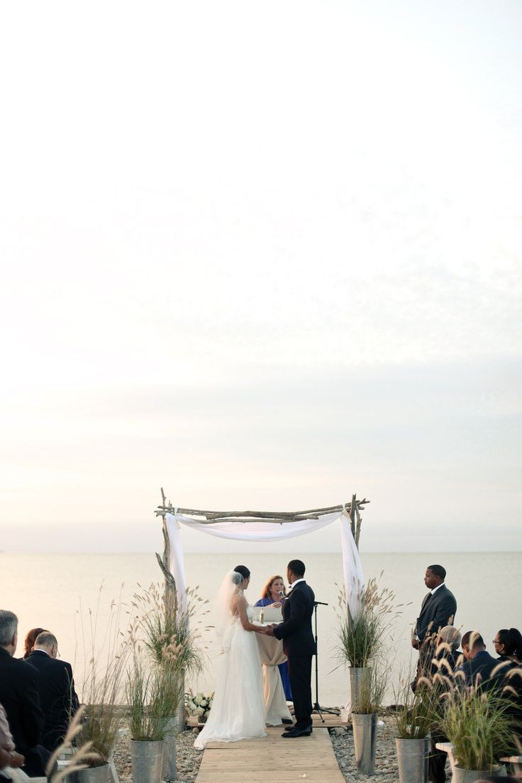 Navy Beach Wedding from Stylish & Hip Weddings  Read more - http://www.stylemepretty.com/new-york-weddings/2013/05/07/navy-beach-wedding-from-stylish-hip-weddings/