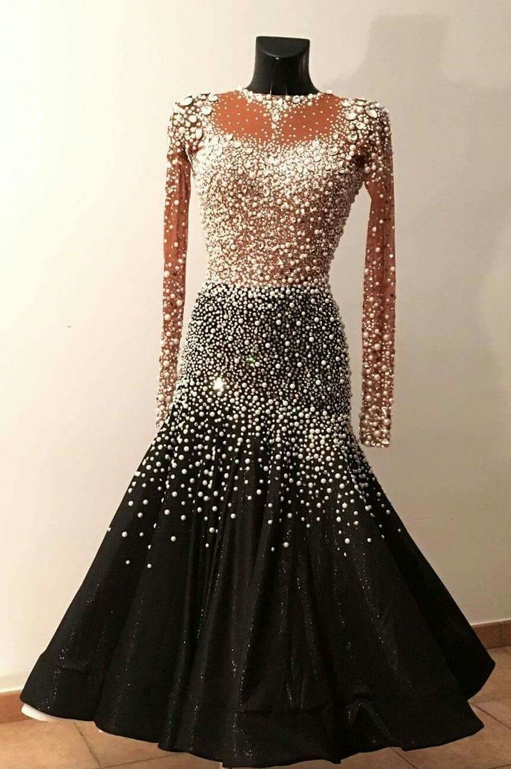 Ballroom Dance Dress- formal.  The cut of the skirt shows off styling moves❣