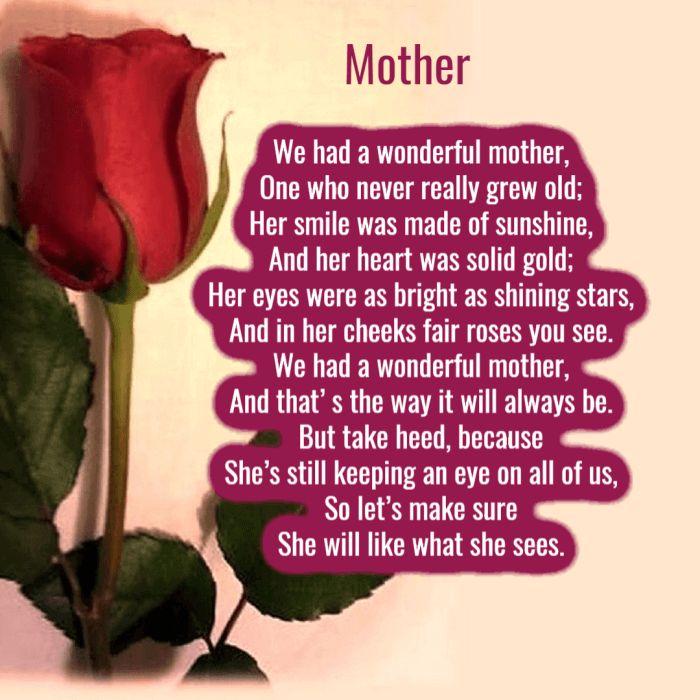 poems mothers cutelovequotesforher
