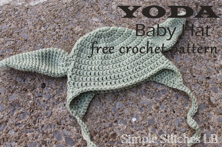 Simple Stitches: FREE PATTERN: Yoda Baby Hat