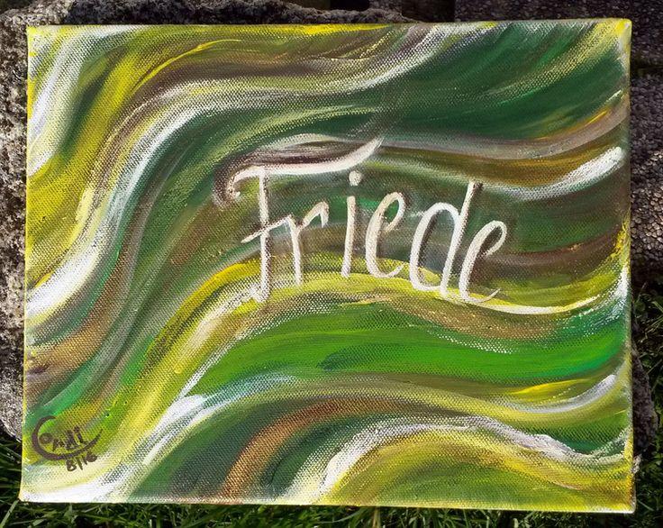 Acrylmalerei - Acrylbild Energiebild FRIEDE - ein Designerstück von HOAMELIGundSCHEAN bei DaWanda