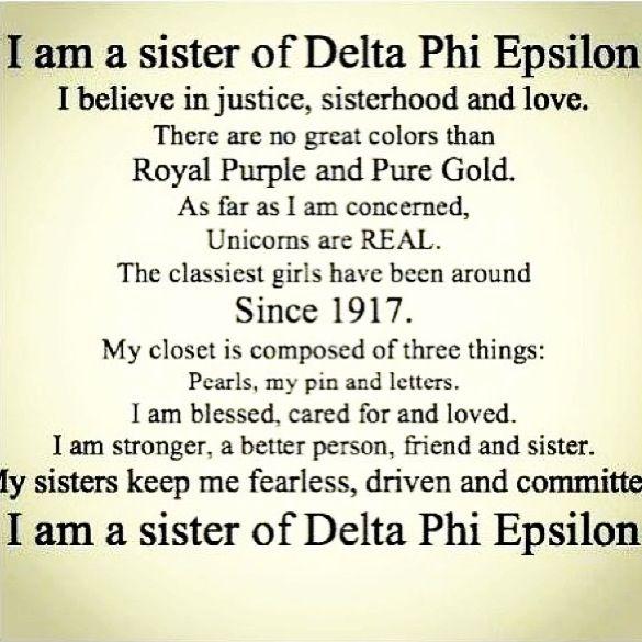 I am Delta Phi Epsilon