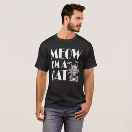 Meow Cat Halloween Costume T-Shirt - Halloween happyhalloween festival party holiday