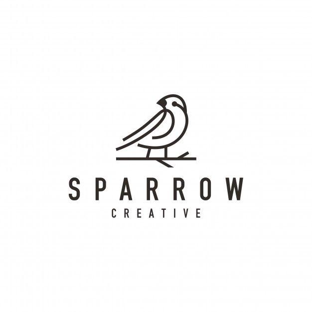 Sparrow Bird Logo Bird Logos Bird Logo Design Sparrow Bird