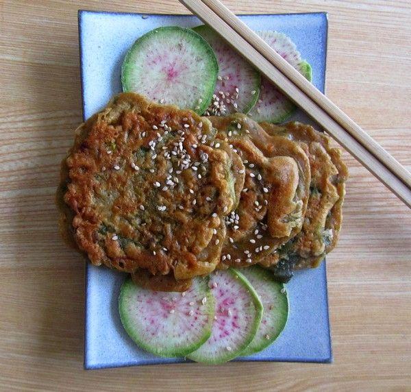 Buchimgae, des galettes coréennes aux légumes 부침개