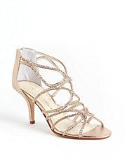 """Capparos Lord and Taylor """"Fiorella"""" gold strappy sandal with sequins"""