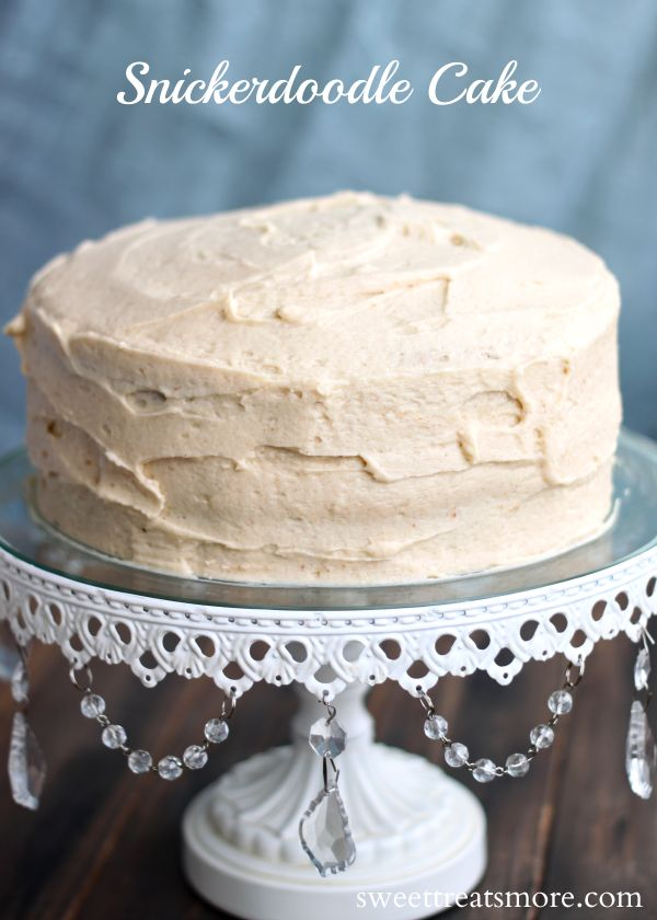 Snickerdoodle Cake with brown sugar buttercream... The perfect party cake with rich, cinnamon-brown sugar flavors, and the frosting is melt-in-your-mouth good!