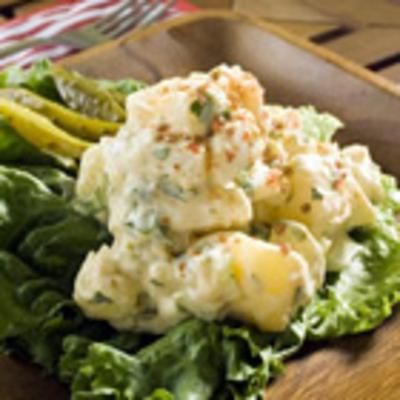 American Potato Salad: Potatoes Salad Recipe, Potato Salad, The Offices, Green Peppers, American Potatoes, Salts, Allrecipes Com, Buttons Recipe, Green Onions