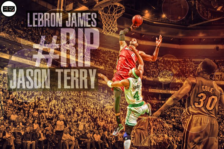 wallpapers pics of lebron james dunking | LeBron James Dunk Over Jason Terry Wallpaper