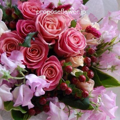 #花 #花束 #花好き #ピンクの薔薇 #スイトピー