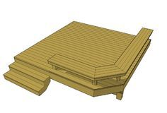 Deck plan with built in benches very easy to build. All of our deck plan designs are free to download.